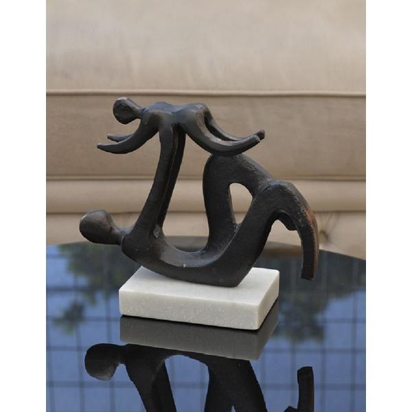 Estatueta em Metal Mãe e Filho 22791-M