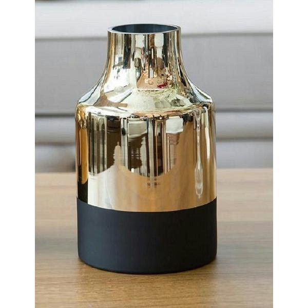 Vaso Dourado em Vidro Metalizado