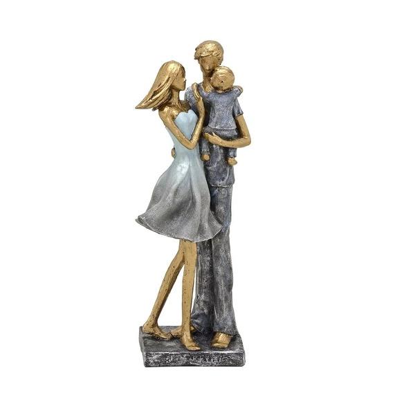 Estatueta em Resina casal com Filho