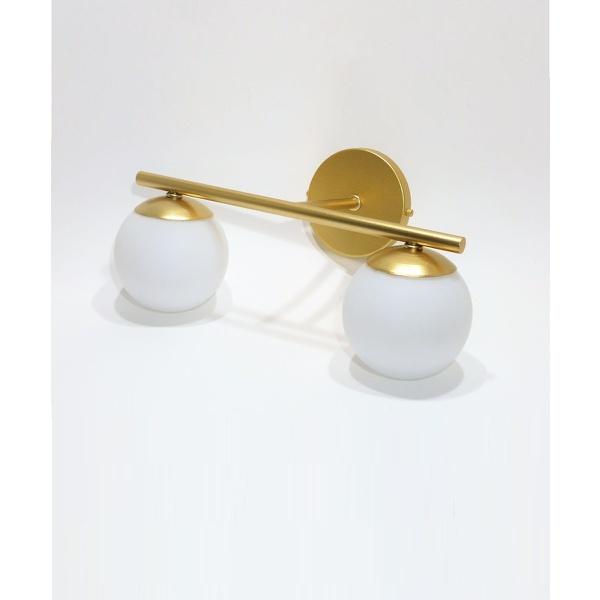 Arandela Luminária de Parede Jabuticaba-Alamin LE10/2P-Dourado