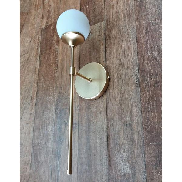 Arandela tocha Luminária de Parede Jabuticaba-Alamin LE13/1G-Dourado
