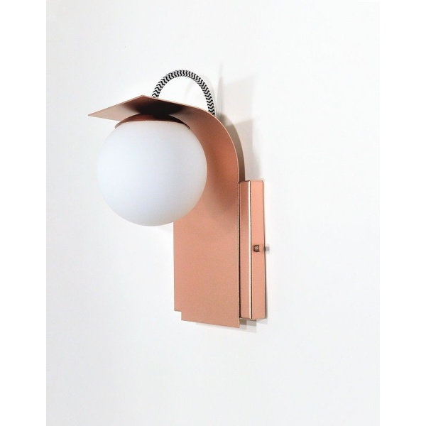 Arandela Luminária de Parede Sfera Jabuticaba-Alamin LE16/1P-Cobre/Rosê