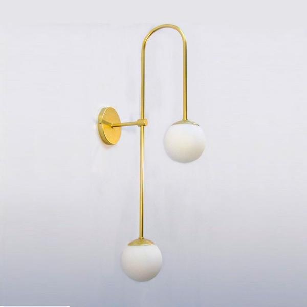 Arandela Luminária de Parede Jabuticaba-Alamin LE27/2P-Dourado
