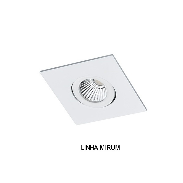 Spot Embutir MR11 Mini Dicróica Quadrado Orientável Alumínio Injetado Face Plana Alamin - AL2009/1Q (Linha Mirum)