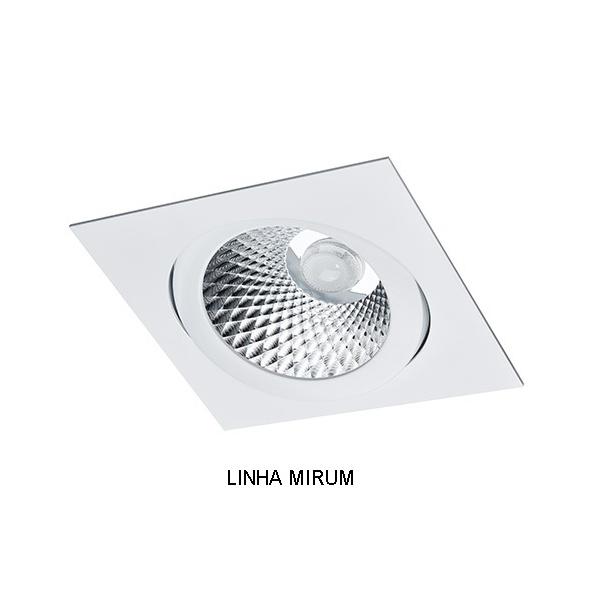 Spot Embutir AR111 Quadrado Orientável Alumínio Injetado Face Plana Alamin - AL2019/1Q (Linha Mirum)
