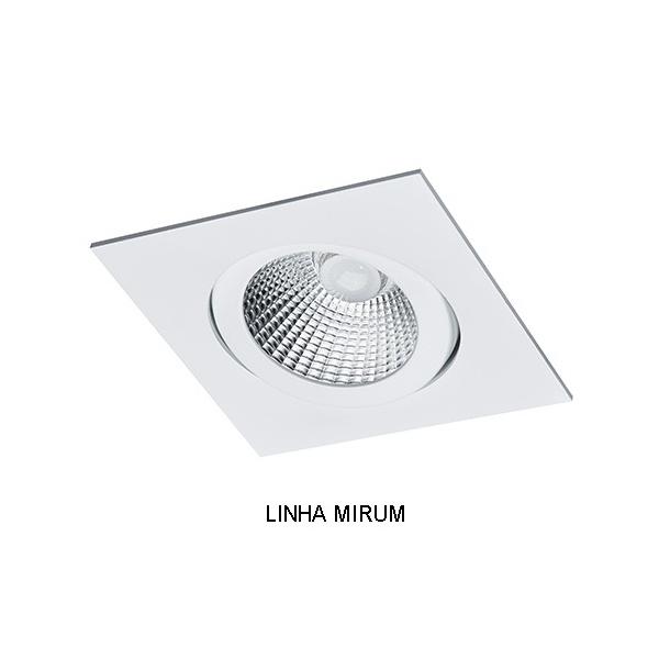 Spot Embutir AR70 Quadrado Orientavel Alumínio Injetado Face Plana Alamin - AL2017/1Q (Linha Mirum)