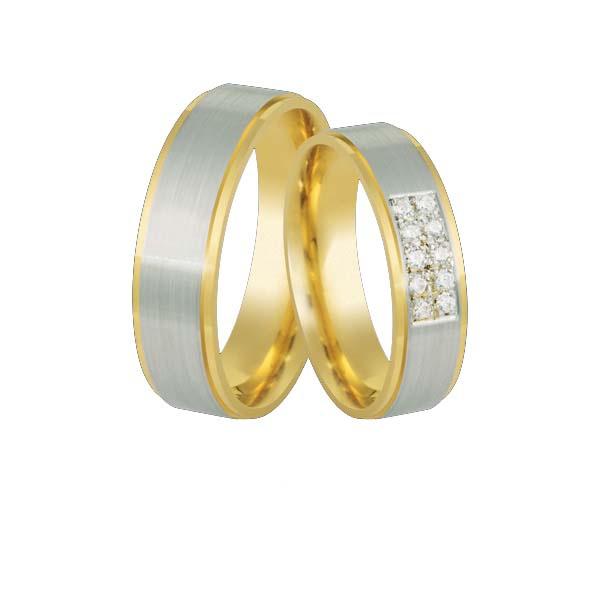 Aliança Para Bodas De Prata Em Ouro - L-Cb-62-10K - Alianças Jessica