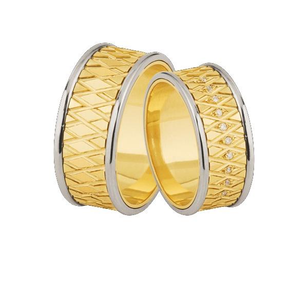 Aqui Esta Sua Proxima Alianças De Ouro Com Diamantes