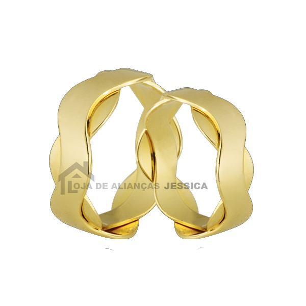 Aliança Delicada Em Ouro 18k