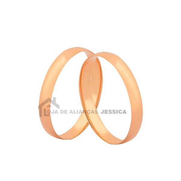 Alianças Tradicionais De Ouro Rosé 18k