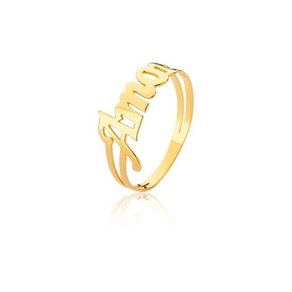 Anel Amor Em Ouro - L-A-04-10K - Alianças Jessica