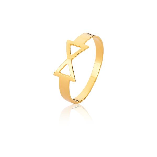 Anel De Laço Em Ouro 18k - L-A-06 - Alianças Jessica