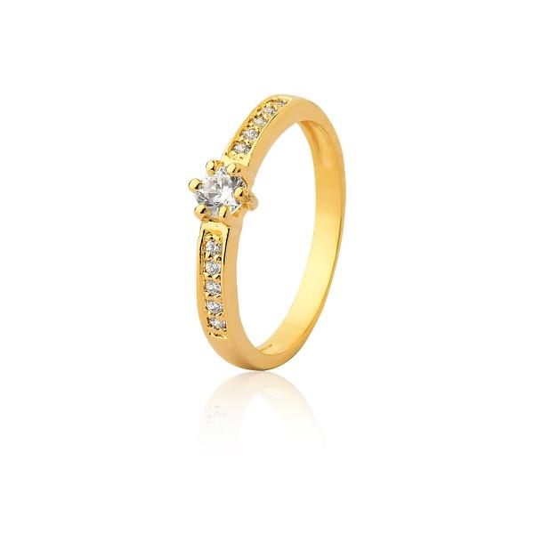 Anel De Noivado Ouro 18k Com Diamantes - L-A-301 - Alianças Jessica