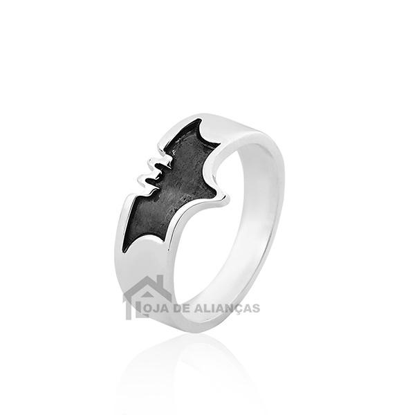 Anel De Prata De Morcego