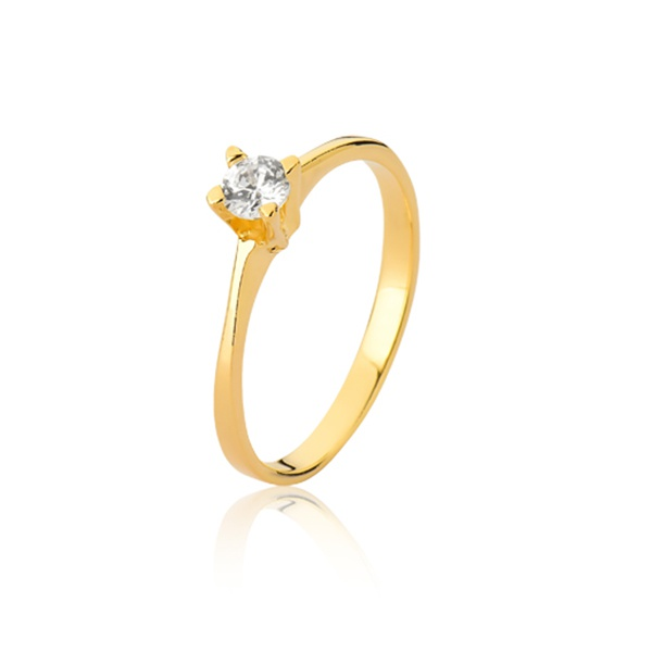 Anel De Noivado Com Diamante - L-S-26 - Alianças Jessica