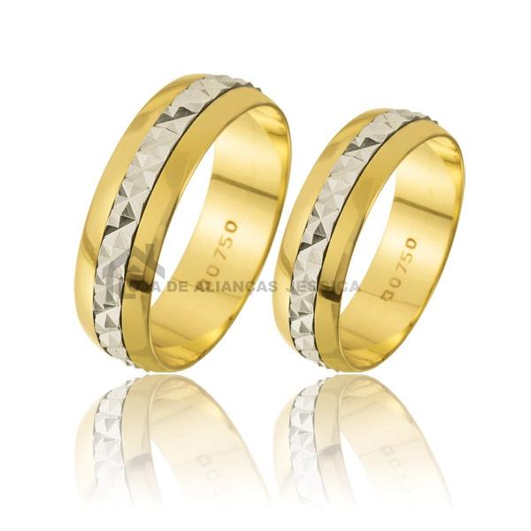 Alianças Em Ouro 18k Bodas De Prata