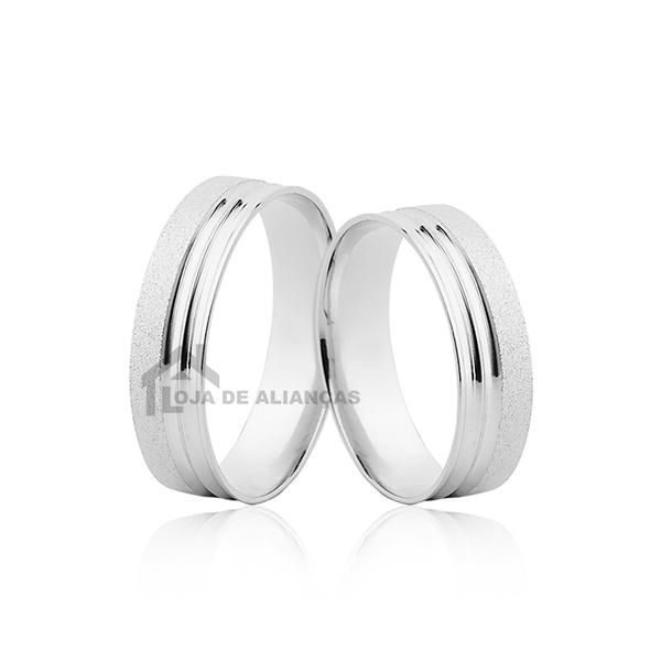 Aliança De Namoro Em Prata Diamantada