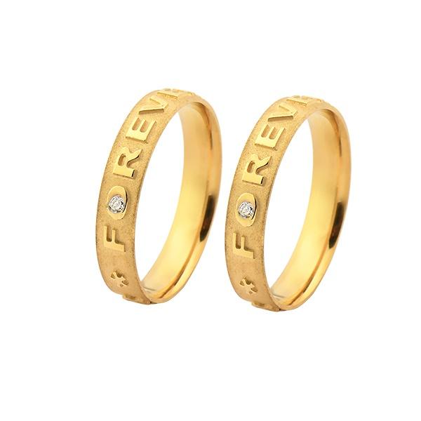 Aliança de Ouro 18k Forever