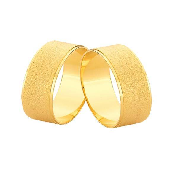 Alianças De Ouro 18k Diamantadas - L-JE-614 - Alianças Jessica