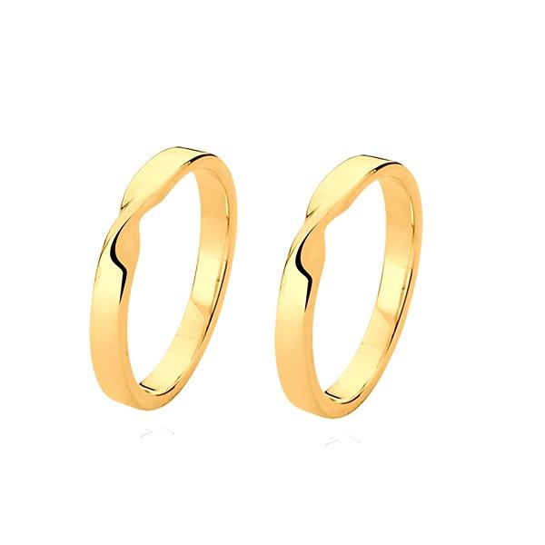 Aliança De Laço Em Ouro 18k - L-JN-630 - Alianças Jessica