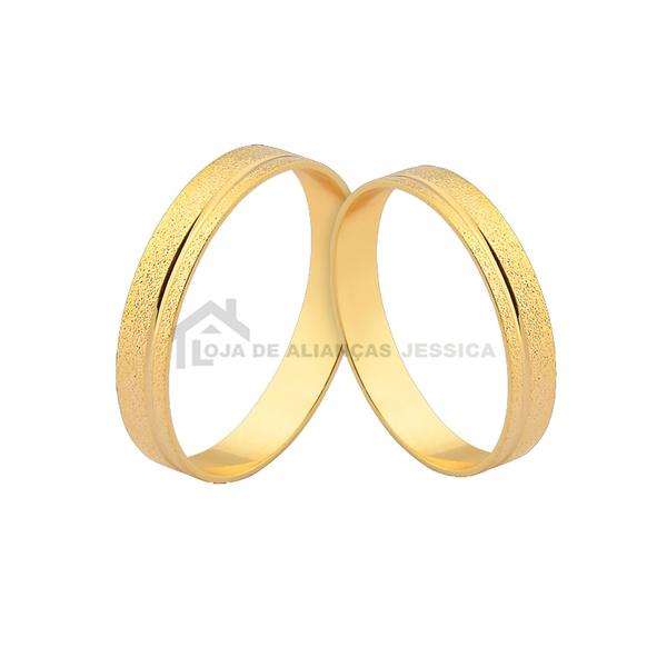 Alianças De Casamento Delicadas Frete Grátis - L-J-355-10k - Alianças Jessica
