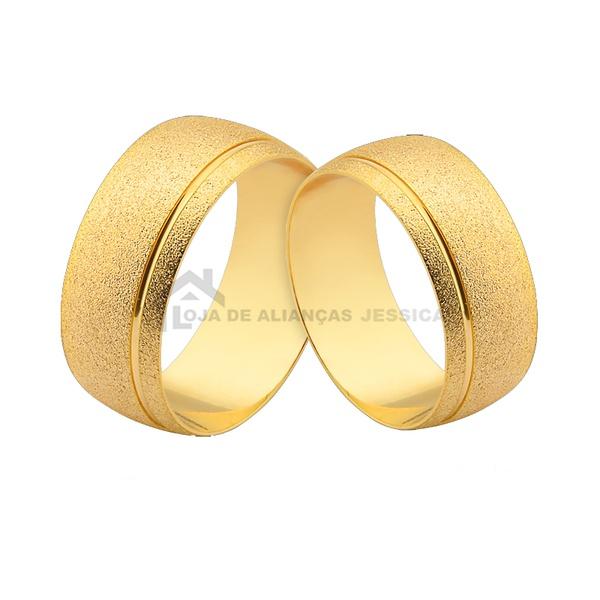 Alianças De Casamento Em Ouro - L-CM-151-10k - Alianças Jessica