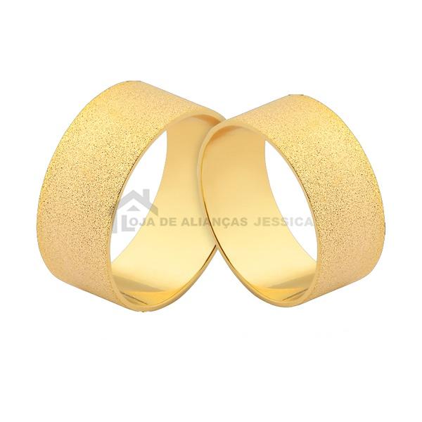 Alianças De Casamento Ou Noivado - L-J-515-10k - Alianças Jessica