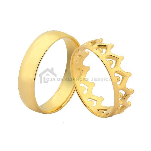 Alianças De Coroa Em Ouro
