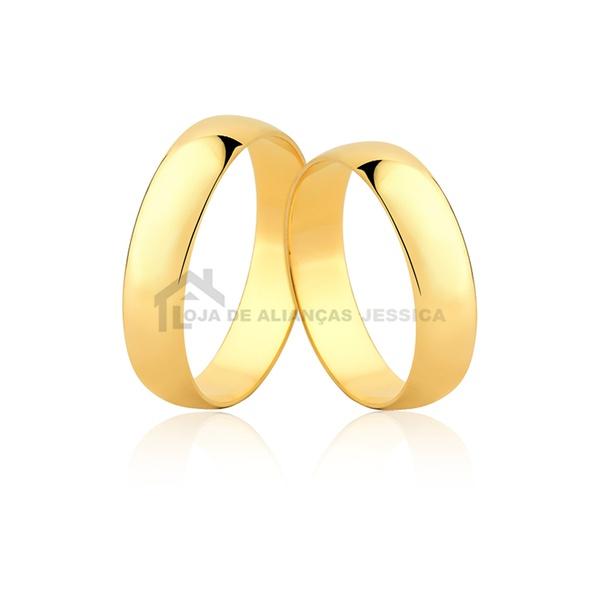 Alianças De Noivado e Casamento - L-CM-40-10k - Alianças Jessica