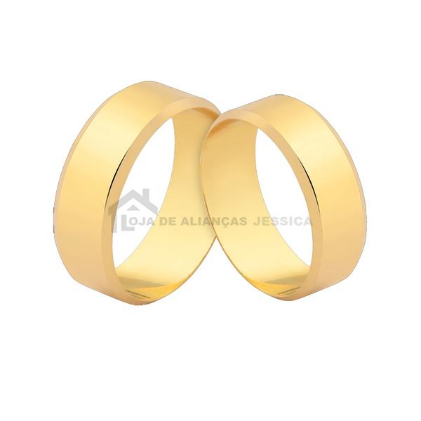 Alianças De Noivado e Casamento - L-J-579-10k - Alianças Jessica
