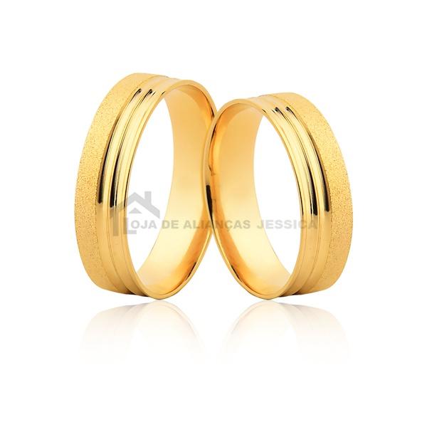 Alianças De Noivado Ou Casamento - L-JE-604-10k - Alianças Jessica