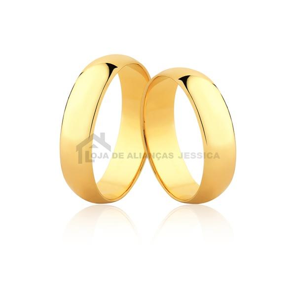 Alianças De Ouro 5,00mm - L-CM-50-10k - Alianças Jessica