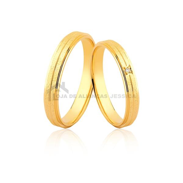 Alianças De Ouro Delicadas - L-JE-589-10k - Alianças Jessica