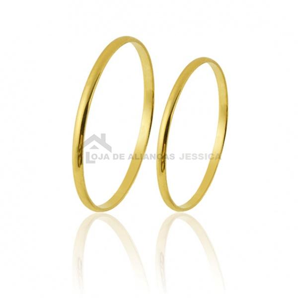 Alianças Delicada De Ouro - L-CM-13-10k - Alianças Jessica