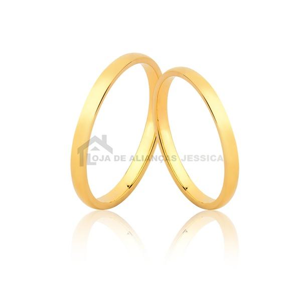 Alianças Delicadas De Ouro - L-MM-125-10k - Alianças Jessica