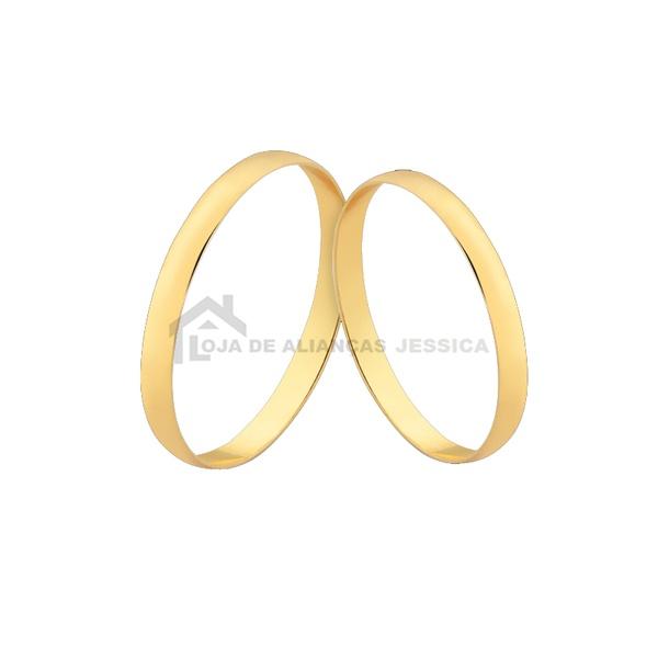 Alianças Finas De Noivado e Casamento De Ouro