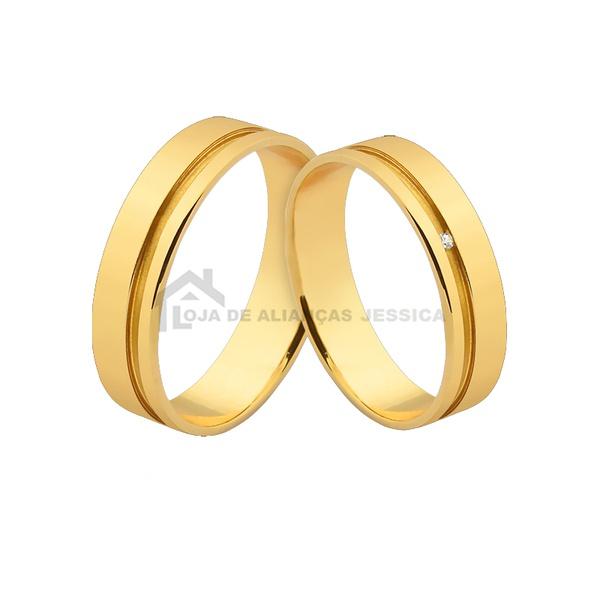 Alianças De Ouro - L-JE-547-Z - Alianças Jessica