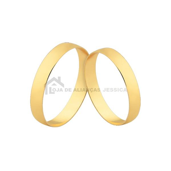 Alianças Baratas Em Ouro - L-CM-128 - Alianças Jessica