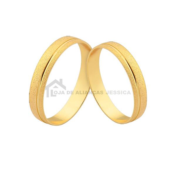 Alianças De Casamento Em Promoção - L-CM-144 - Alianças Jessica