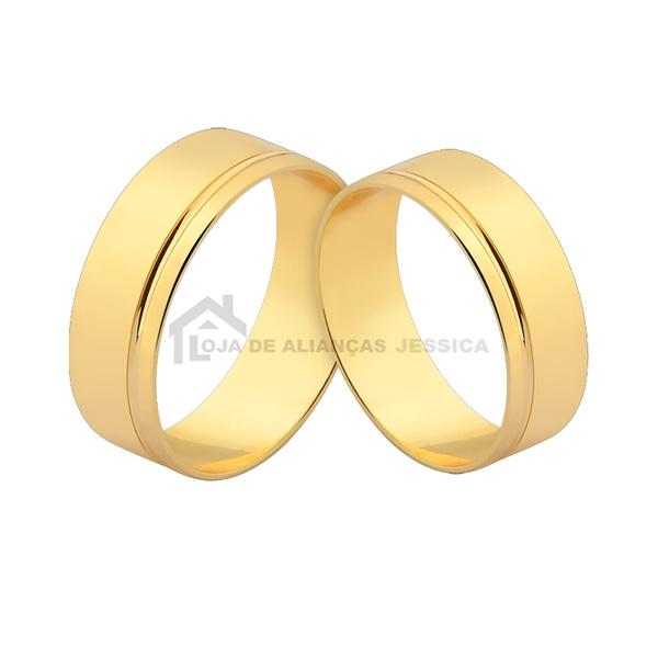 Alianças De Noivado e Casamento - L-CM-170 - Alianças Jessica
