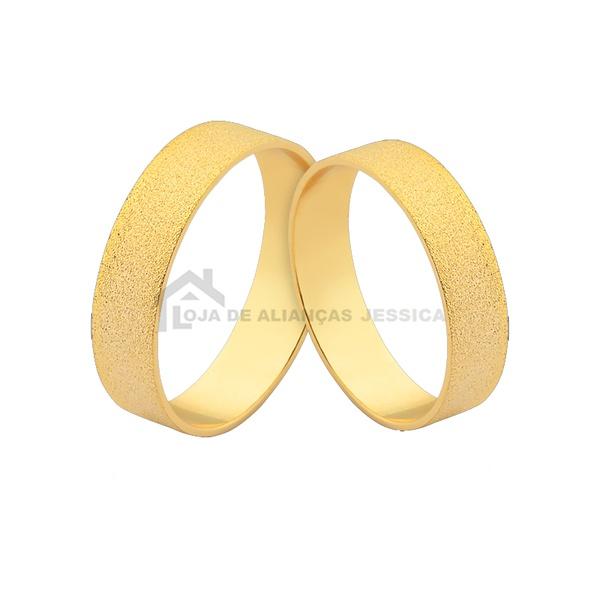 Alianças De Ouro 18k 5,00mm - L-J-480 - Alianças Jessica
