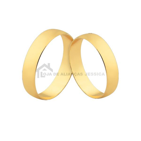 Alianças De Ouro 18k Para Casamento - L-CM-131 - Alianças Jessica