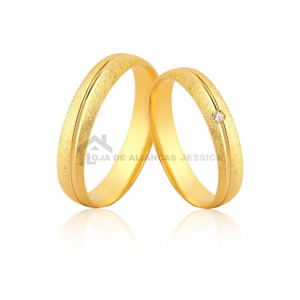 Alianças De Ouro Em Promoção - L-JE-595 - Alianças Jessica