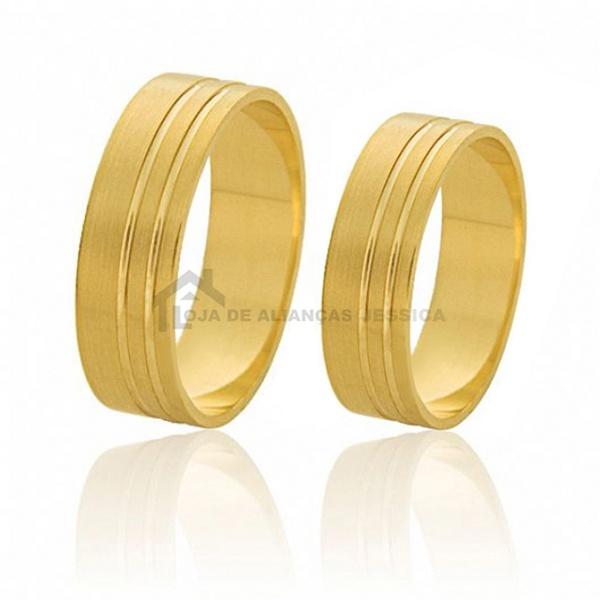 Alianças De Ouro Retas 6,00mm Preço Promocional