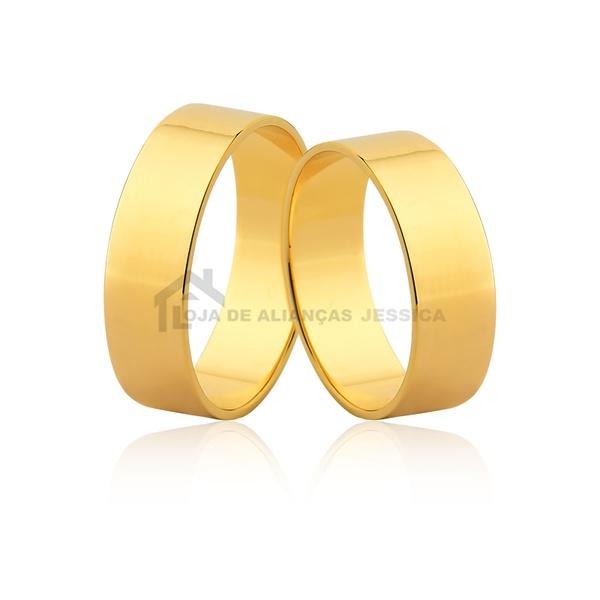Alianças Largas De Ouro 18k