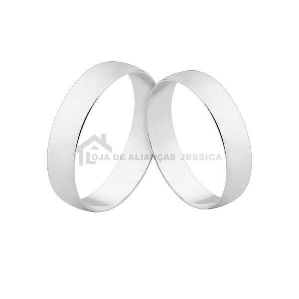 Alianças De Ouro Branco 18k Para Casamento