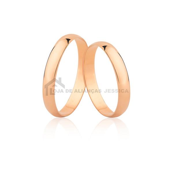 Alianças De Casamento De Ouro Rosé 18k