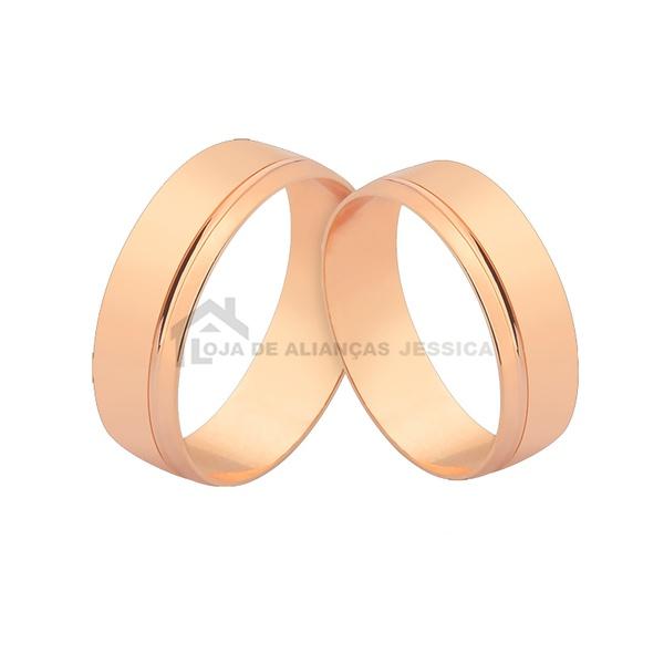 Alianças De Ouro Rosé Para Casamento