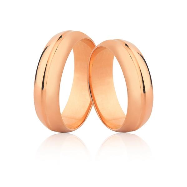 Alianças De Ouro Rosé 18k