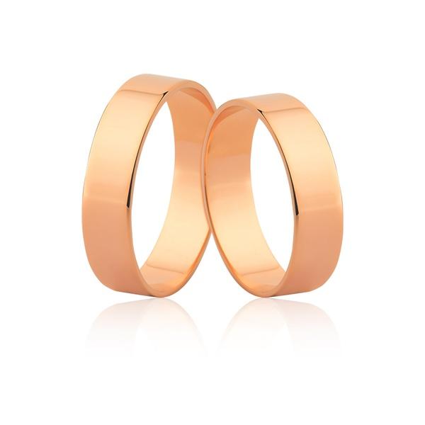 Aliança De Noivado De Ouro Rosé 18k - L-J-50-R - Alianças Jessica